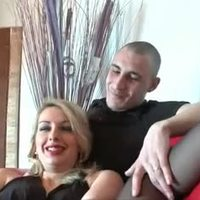 Horny french blonde hard sodomized