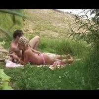 Voyeur on beach. Amazing Blondie Fucks with her boyfriend