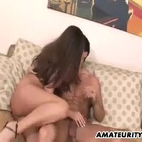 Busty amateur Milf sucks and fucks with facial