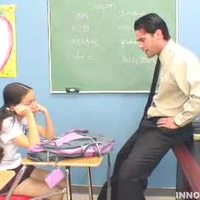 Lovely teen brunette fucked by teacher