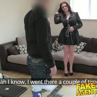 FakeAgentUK Brunette with amazing tits fooled for 2nd castin
