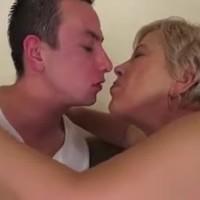 Granny fucks young man