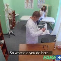 FakeHospital Pretty patient was prepped by nurse