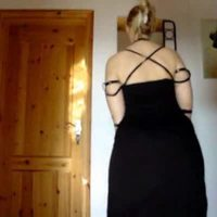 Sarah Big Butt Black Dress