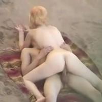 Nude Beach - Blond Skinny Ride & Blowjob