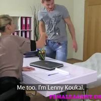 FemaleAgent Unexpected casting fucks MILF agent beautifully