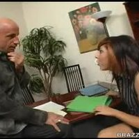 Office Babe gets her brains fucked hard
